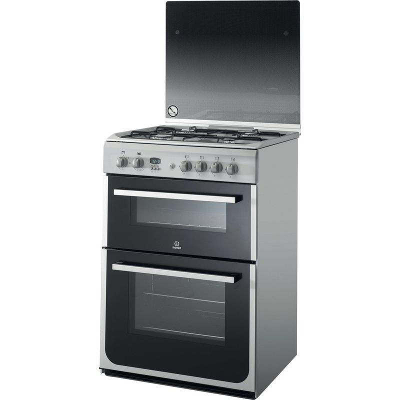 Indesit-Double-Cooker-DD60C2G2-X--Inox-A--Enamelled-Sheetmetal-Perspective