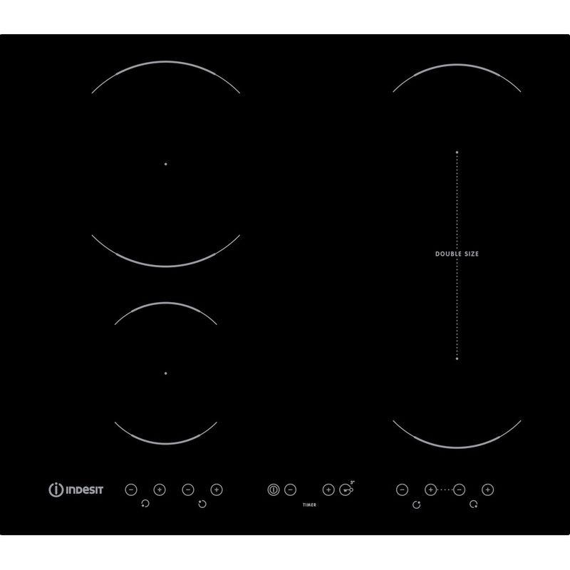 Indesit-HOB-VID-641-B-C-Black-Induction-vitroceramic-Frontal