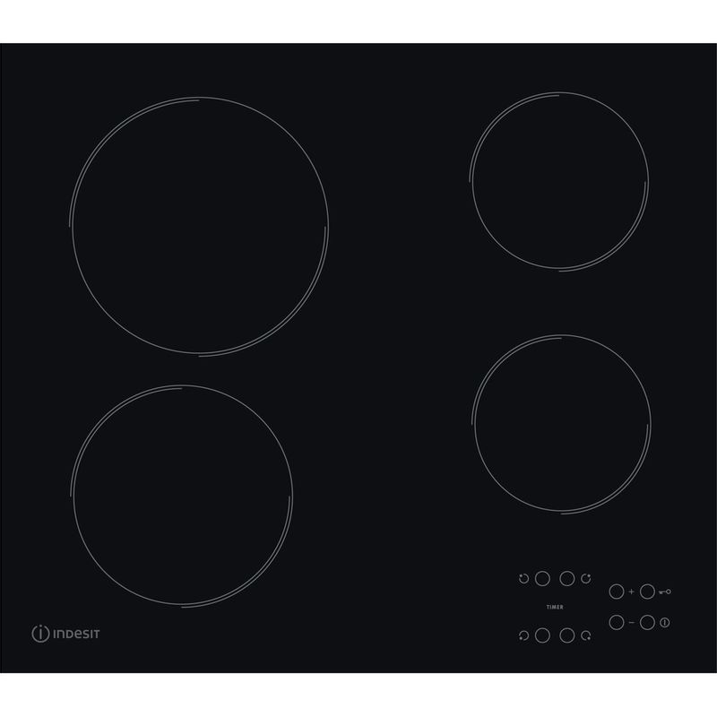 Indesit-HOB-RI-161-C-Black-Radiant-vitroceramic-Frontal
