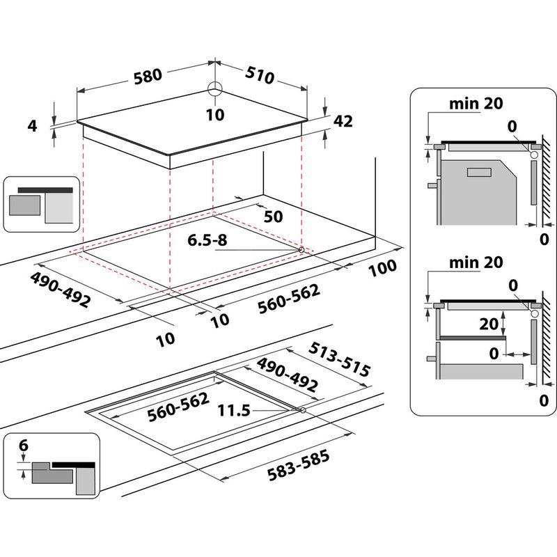 Indesit-HOB-AAR-160-C-Black-Radiant-vitroceramic-Technical-drawing