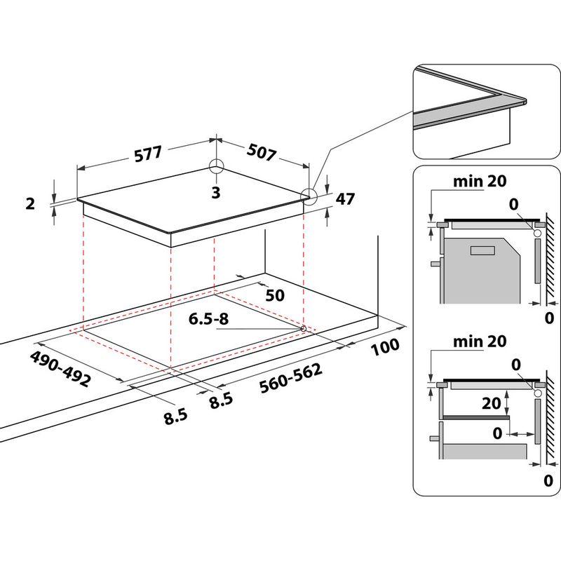 Indesit-HOB-RI-261-X-Black-Radiant-vitroceramic-Technical-drawing