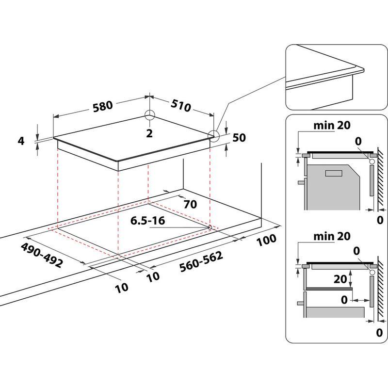 Indesit-HOB-RI-861-X-Black-Radiant-vitroceramic-Technical-drawing