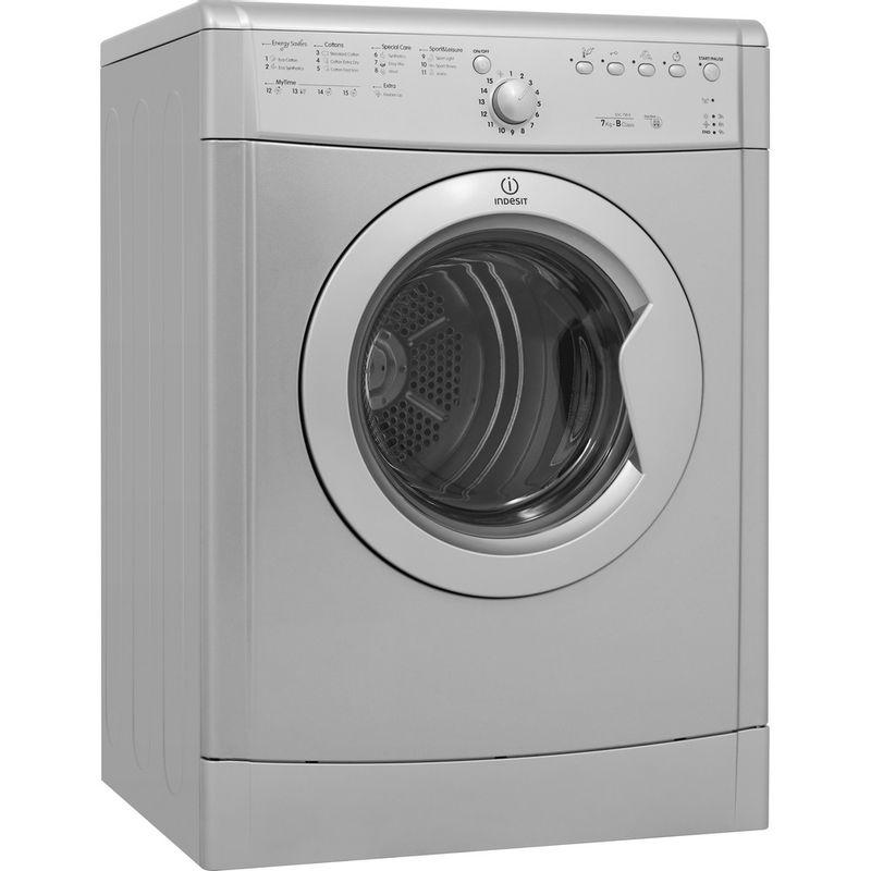 Indesit-Dryer-IDVL-75-BRS.9-UK-Silver-Perspective