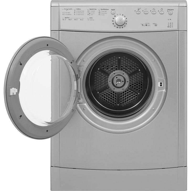 Indesit-Dryer-IDVL-75-BRS.9-UK-Silver-Frontal-open