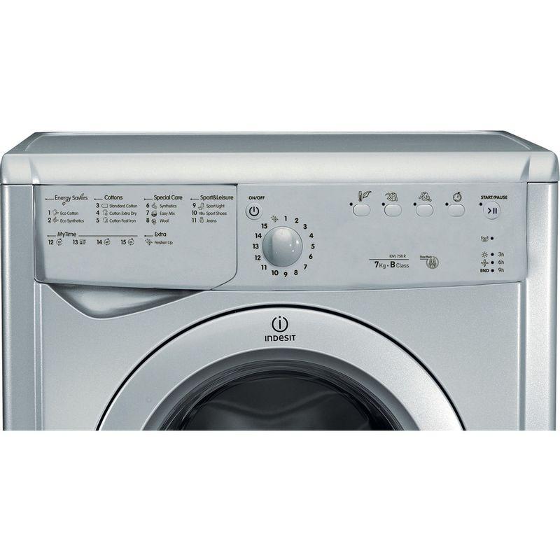 Indesit-Dryer-IDVL-75-BRS.9-UK-Silver-Control-panel