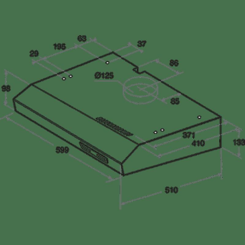 Indesit-HOOD-Built-in-ISLK-66-LS-X-Inox-Free-standing-Mechanical-Technical-drawing