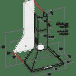 Indesit-HOOD-Free-standing-UHPM-6.3F-CS-X-1-Inox-Wall-mounted-Mechanical-Technical-drawing