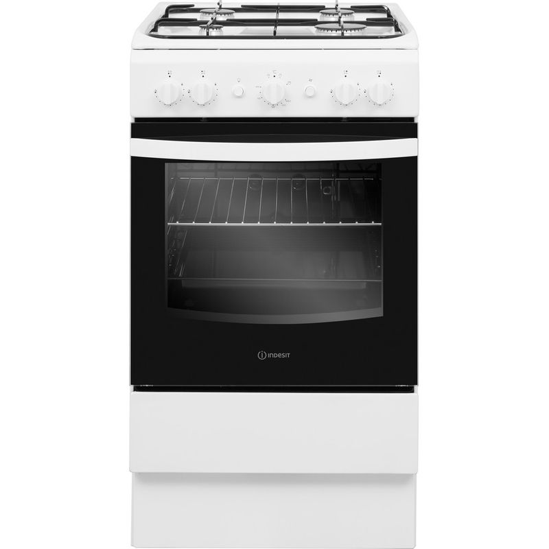 Indesit-Cooker-IS5G1KMW-U-White-GAS-Frontal