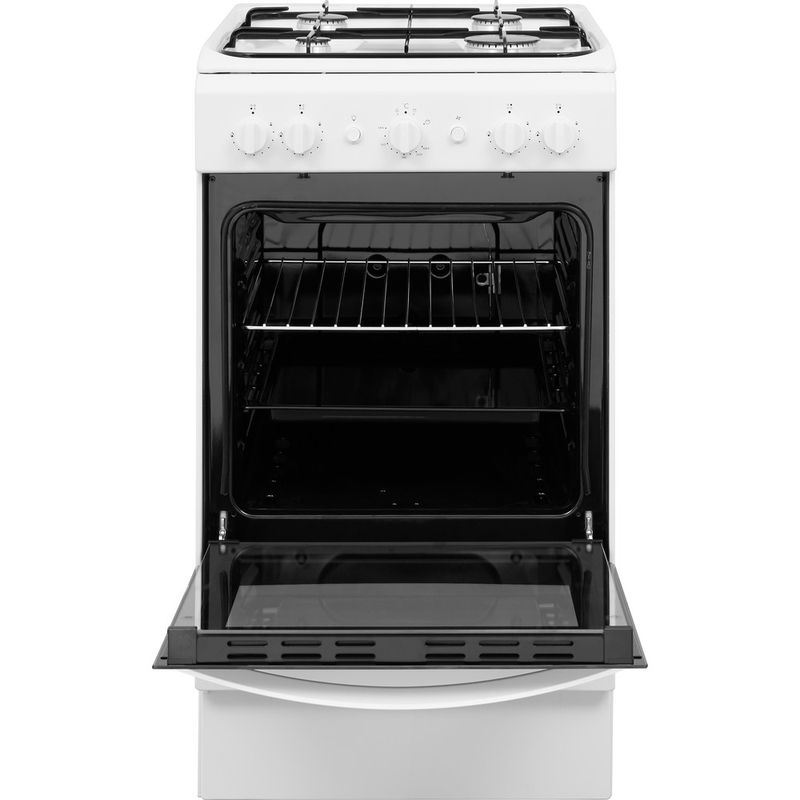 Indesit-Cooker-IS5G1KMW-U-White-GAS-Frontal-open