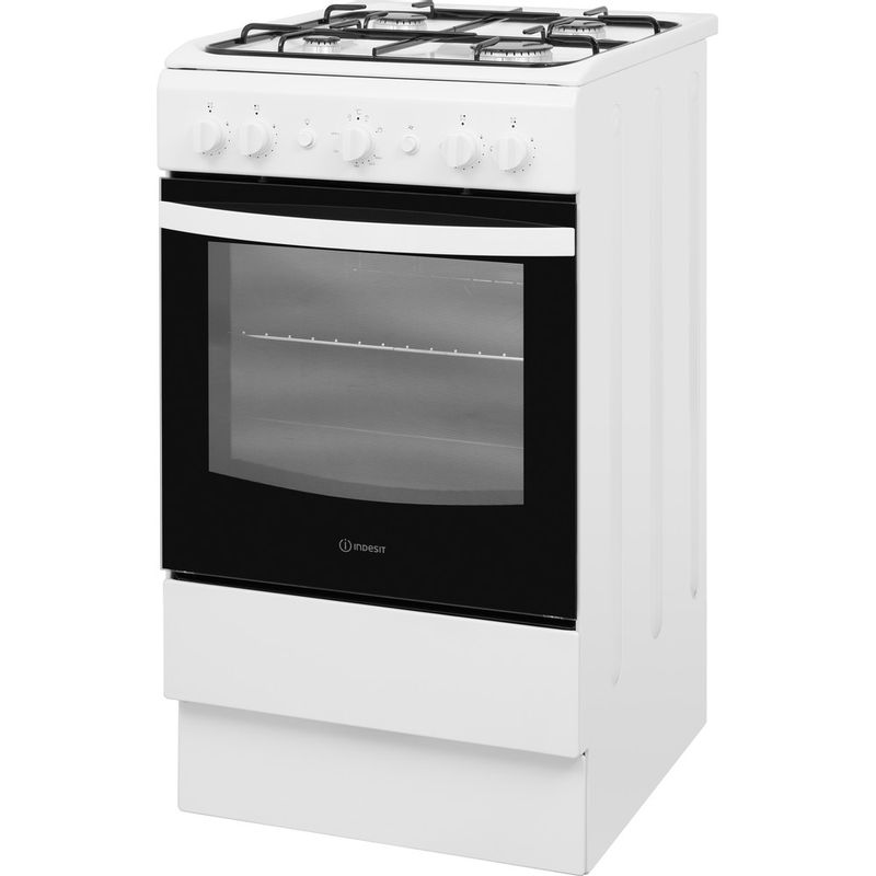 Indesit-Cooker-IS5G1KMW-U-White-GAS-Perspective