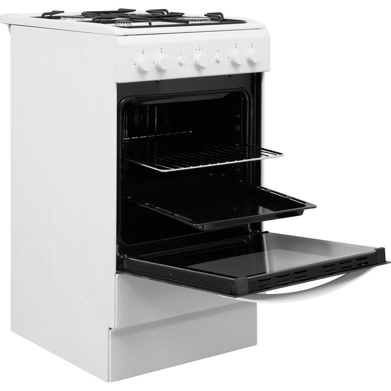 Indesit-Cooker-IS5G1KMW-U-White-GAS-Perspective-open