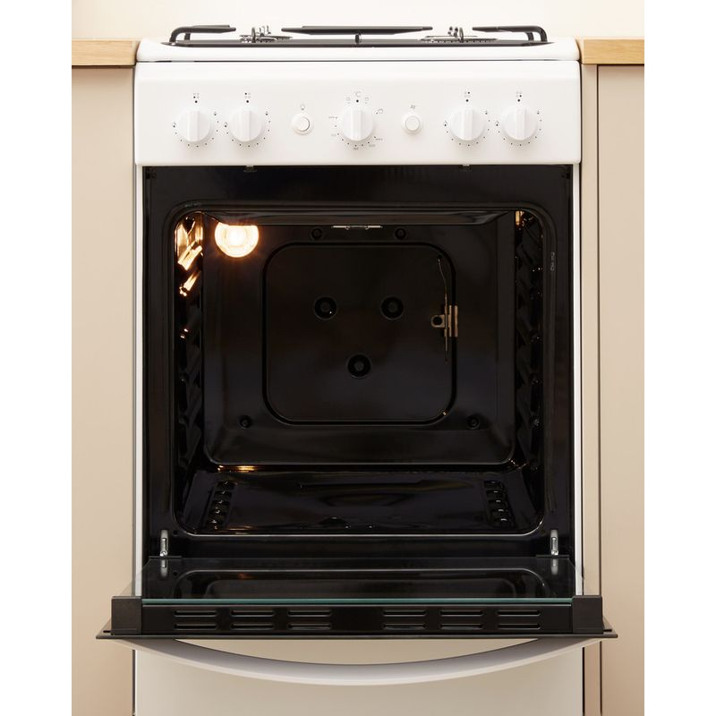 Indesit-Cooker-IS5G1KMW-U-White-GAS-Lifestyle-frontal-open