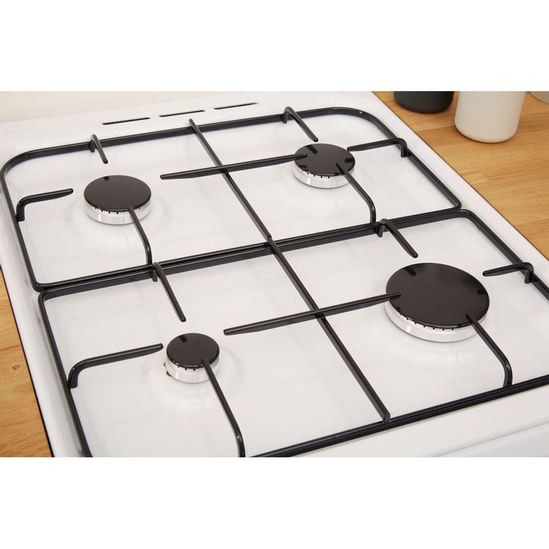 Indesit-Cooker-IS5G1KMW-U-White-GAS-Heating-element