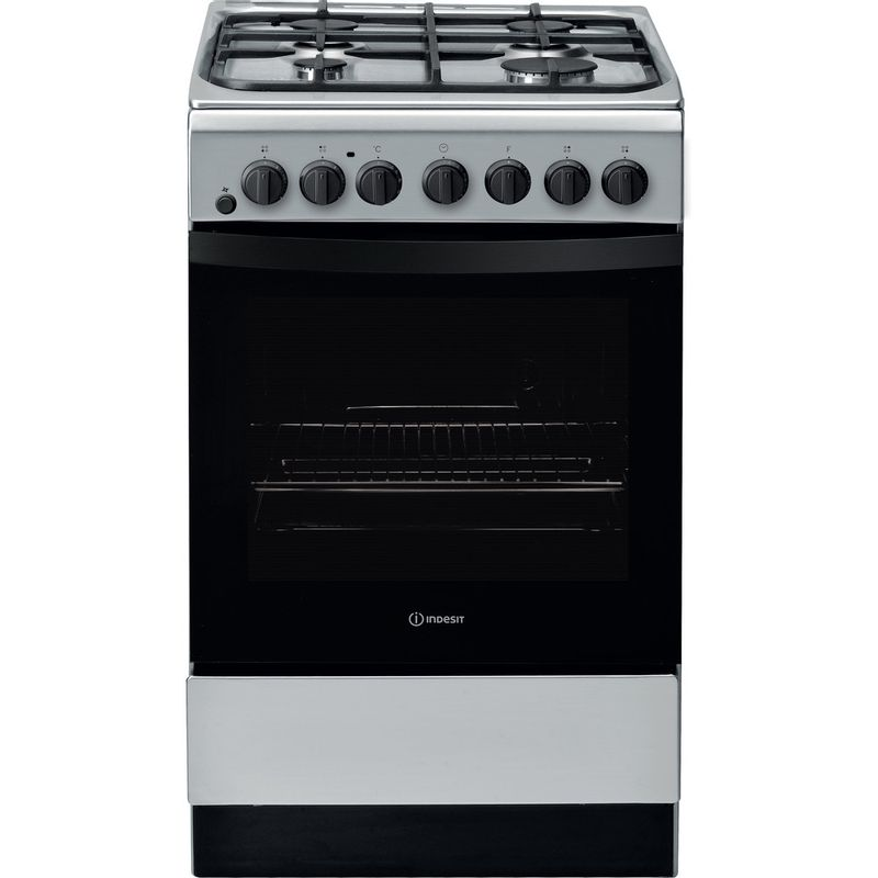 Indesit-Cooker-IS5G4PHSS-UK-Inox-GAS-Frontal