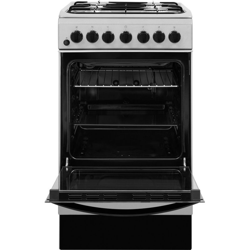 Indesit-Cooker-IS5G4PHSS-UK-Inox-GAS-Frontal-open