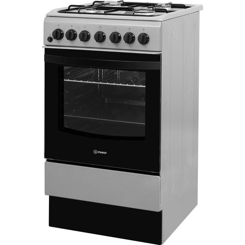 Indesit-Cooker-IS5G4PHSS-UK-Inox-GAS-Perspective