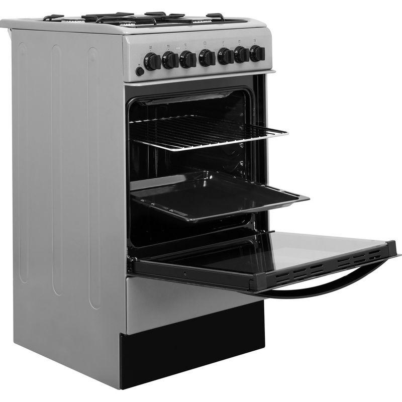 Indesit-Cooker-IS5G4PHSS-UK-Inox-GAS-Perspective-open
