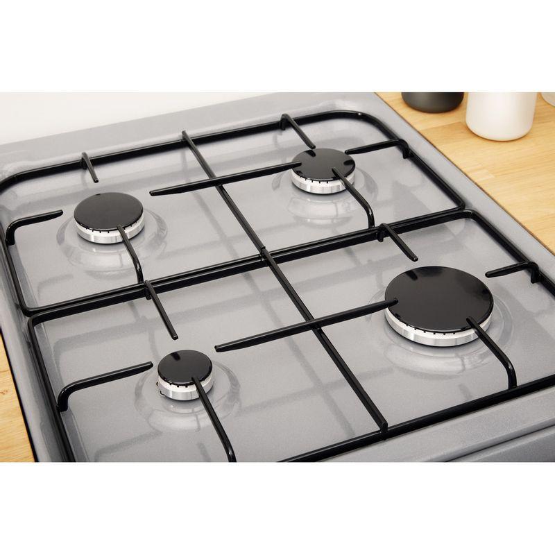 Indesit-Cooker-IS5G4PHSS-UK-Inox-GAS-Heating-element