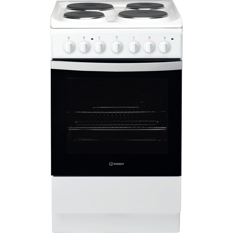 Indesit-Cooker-IS5E4KHW-UK-White-Electrical-Frontal