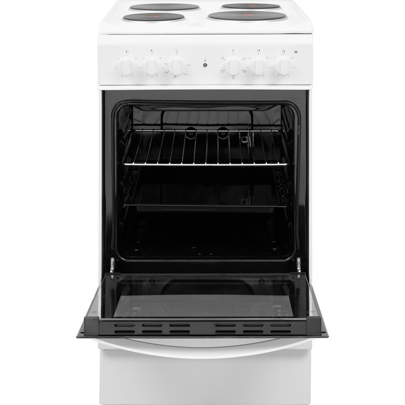 Indesit-Cooker-IS5E4KHW-UK-White-Electrical-Frontal-open
