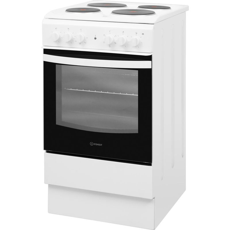 Indesit-Cooker-IS5E4KHW-UK-White-Electrical-Perspective