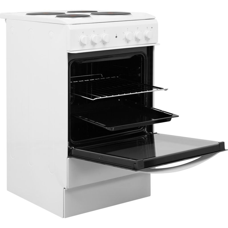 Indesit-Cooker-IS5E4KHW-UK-White-Electrical-Perspective-open