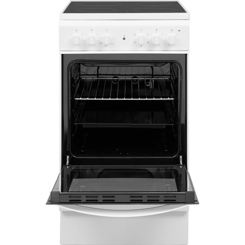 Indesit-Cooker-IS5V4KHW-UK-White-Electrical-Frontal-open