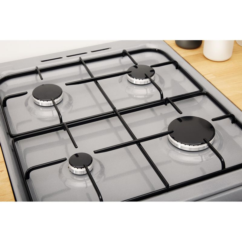 Indesit-Cooker-IS5G1PMSS-UK-Silver-painted-GAS-Heating-element
