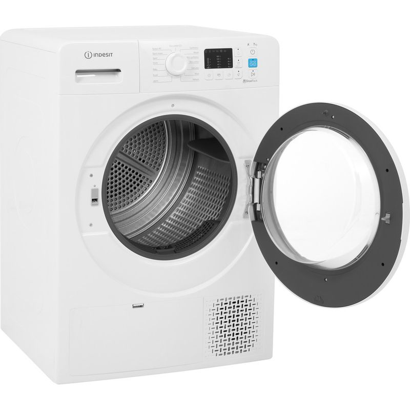 Indesit-Dryer-YT-M10-71-R-UK-White-Perspective-open