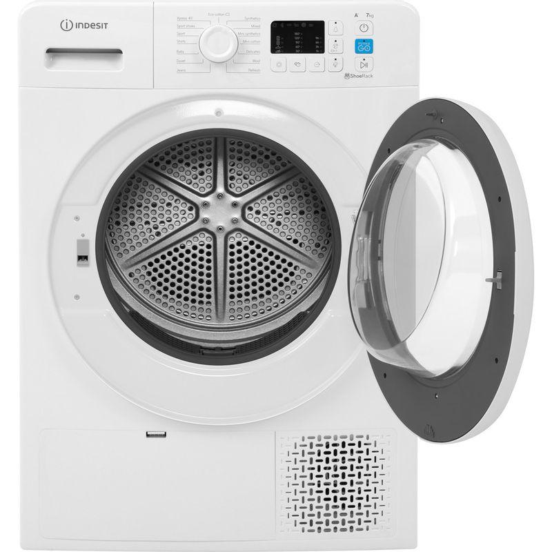 Indesit-Dryer-YT-M10-71-R-UK-White-Frontal-open