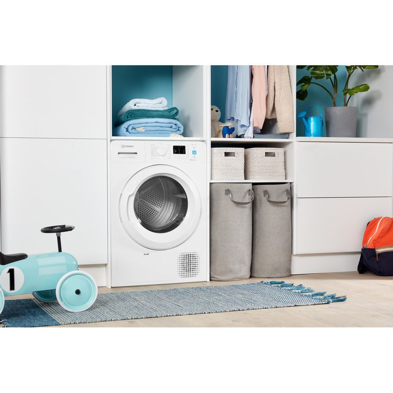 Indesit-Dryer-YT-M10-71-R-UK-White-Lifestyle-perspective