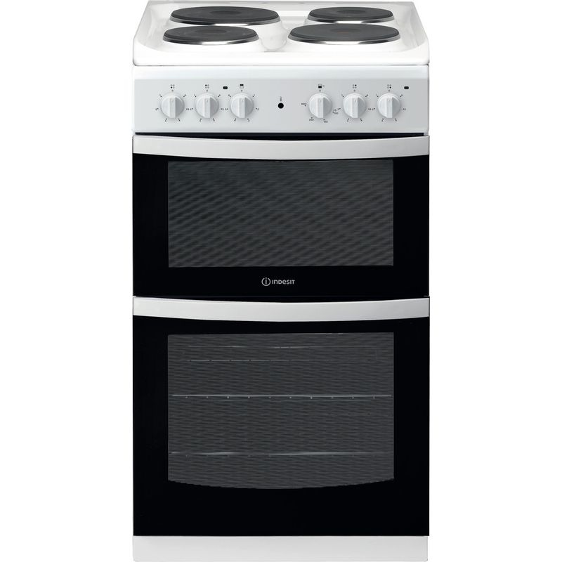 Indesit-Double-Cooker-ID5E92KMW-UK-White-A-Enamelled-Sheetmetal-Frontal