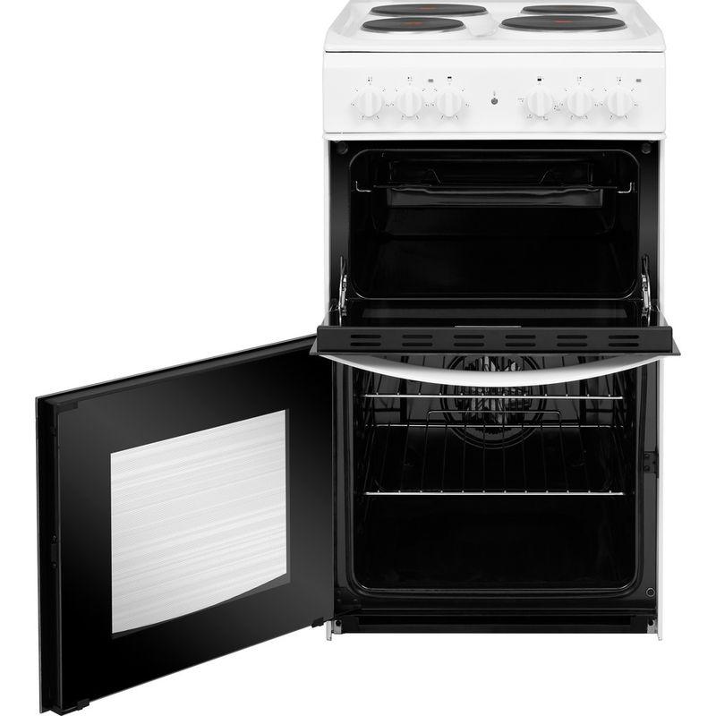 Indesit-Double-Cooker-ID5E92KMW-UK-White-A-Enamelled-Sheetmetal-Frontal-open