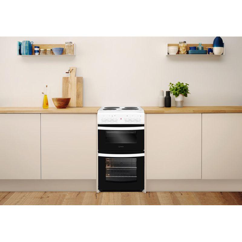 Indesit-Double-Cooker-ID5E92KMW-UK-White-A-Enamelled-Sheetmetal-Lifestyle-frontal