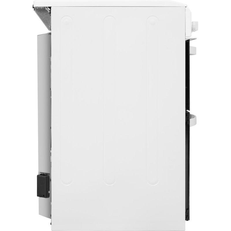Indesit-Double-Cooker-ID5E92KMW-UK-White-A-Enamelled-Sheetmetal-Back---Lateral
