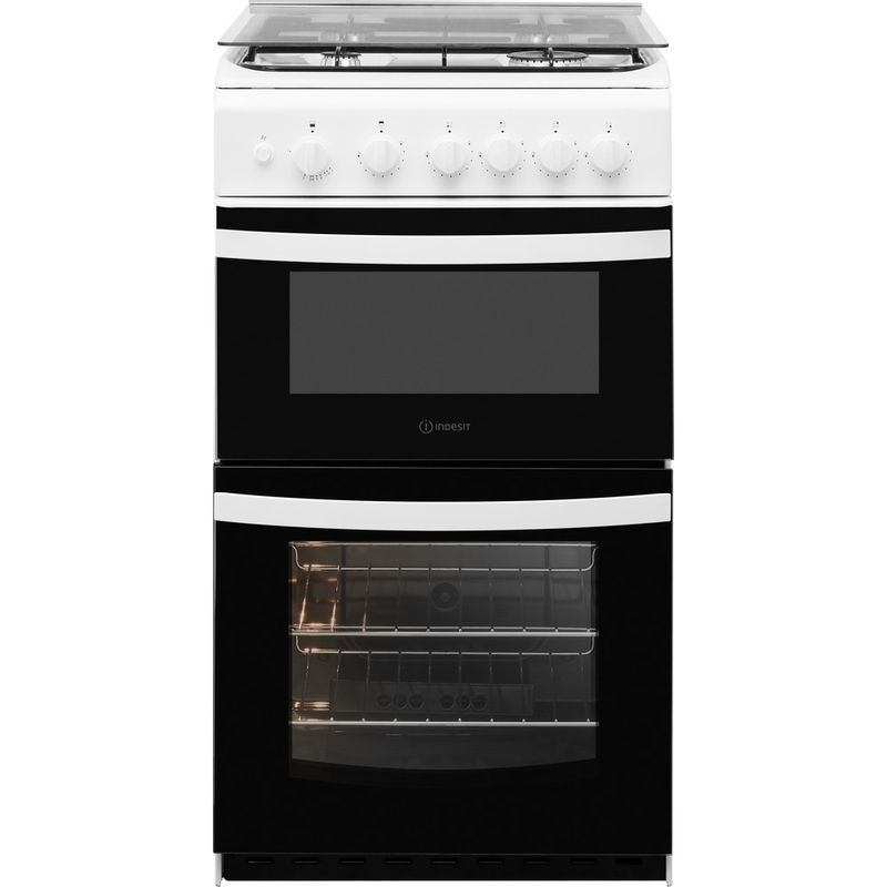 Indesit-Double-Cooker-ID5G00KMW-UK--L-White-A--Enamelled-Sheetmetal-Frontal