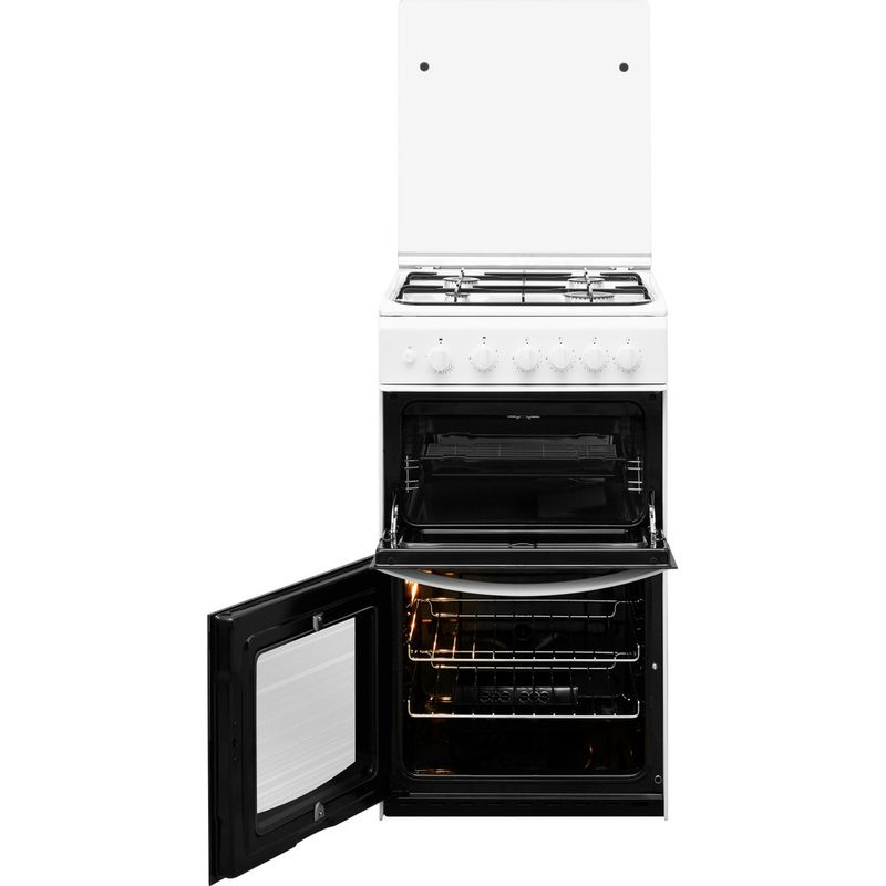 Indesit-Double-Cooker-ID5G00KMW-UK--L-White-A--Enamelled-Sheetmetal-Frontal-open