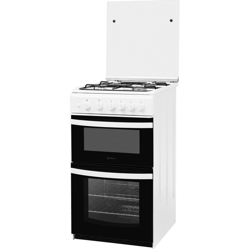 Indesit-Double-Cooker-ID5G00KMW-UK--L-White-A--Enamelled-Sheetmetal-Perspective