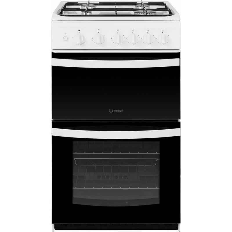Indesit-Double-Cooker-ID5G00KMW-UK-White-A--Enamelled-Sheetmetal-Frontal