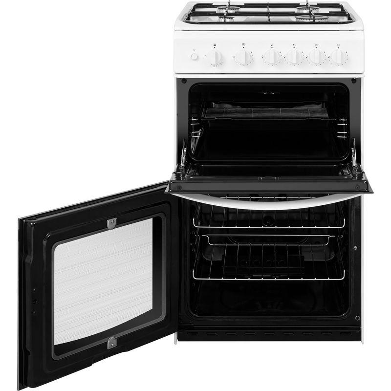 Indesit-Double-Cooker-ID5G00KMW-UK-White-A--Enamelled-Sheetmetal-Frontal-open