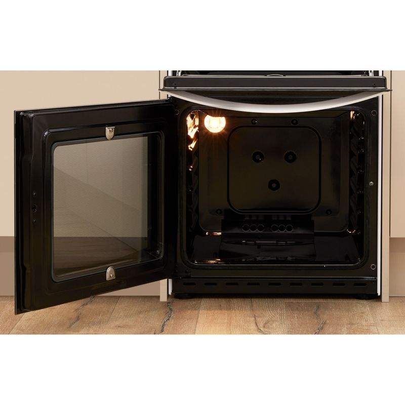 Indesit-Double-Cooker-ID5G00KMW-UK-White-A--Enamelled-Sheetmetal-Lifestyle-frontal-open