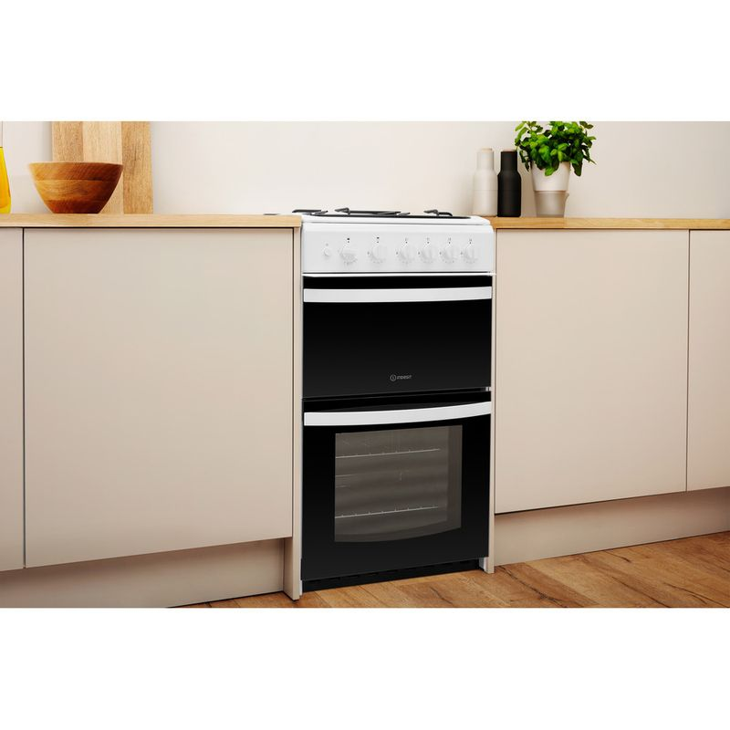 Indesit-Double-Cooker-ID5G00KMW-UK-White-A--Enamelled-Sheetmetal-Lifestyle-perspective