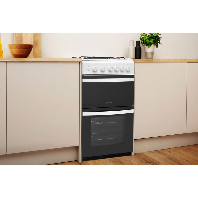 Indesit-Double-Cooker-ID5G00KCW-UK-White-A--Enamelled-Sheetmetal-Lifestyle-perspective