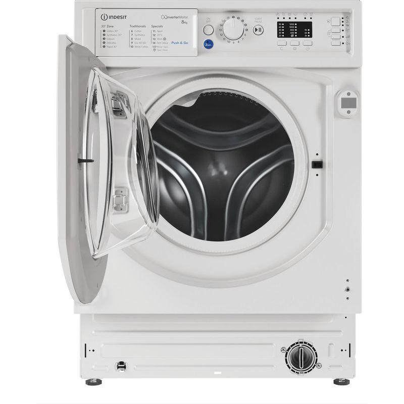 Indesit-Washing-machine-Built-in-BI-WMIL-81284-UK-White-Front-loader-C-Frontal-open