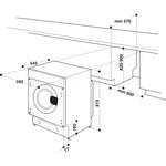 Indesit-Washing-machine-Built-in-BI-WMIL-81284-UK-White-Front-loader-C-Technical-drawing