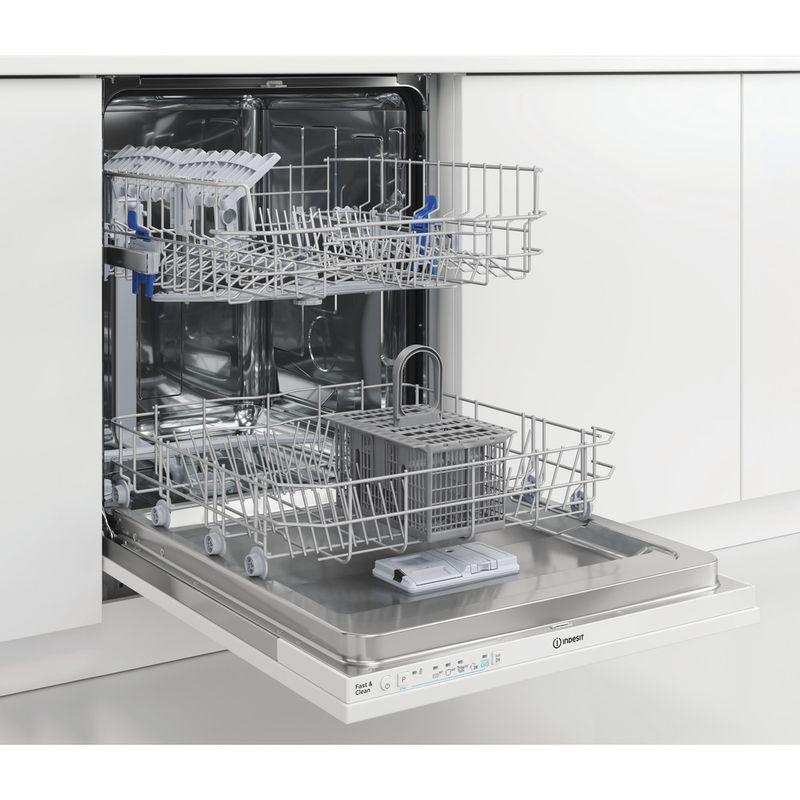 Indesit-Dishwasher-Built-in-DIE-2B19-UK-Full-integrated-F-Perspective-open