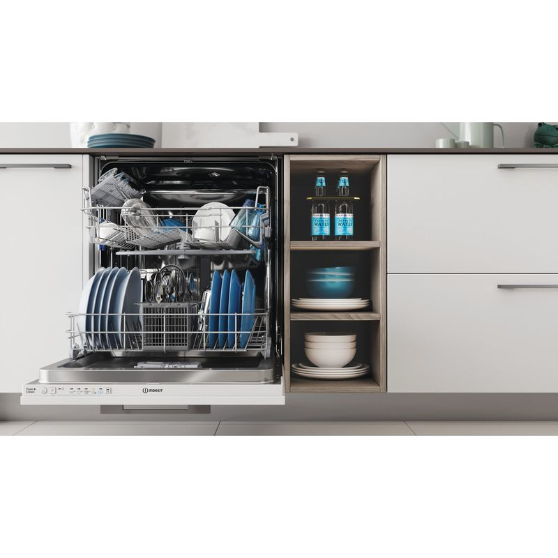 Indesit-Dishwasher-Built-in-DIE-2B19-UK-Full-integrated-F-Lifestyle-frontal-open