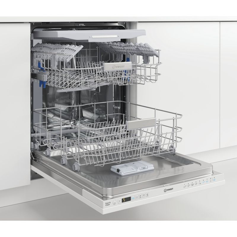 Indesit-Dishwasher-Built-in-DIO-3T131-FE-UK-Full-integrated-D-Perspective-open