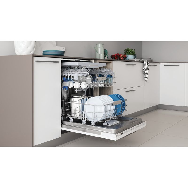 Indesit-Dishwasher-Built-in-DIO-3T131-FE-UK-Full-integrated-D-Lifestyle-perspective-open