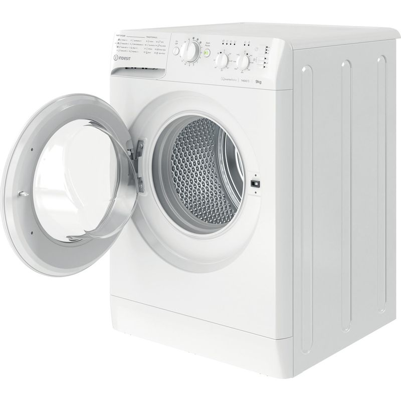 Indesit-Washing-machine-Free-standing-MTWC-91483-W-UK-White-Front-loader-D-Perspective-open